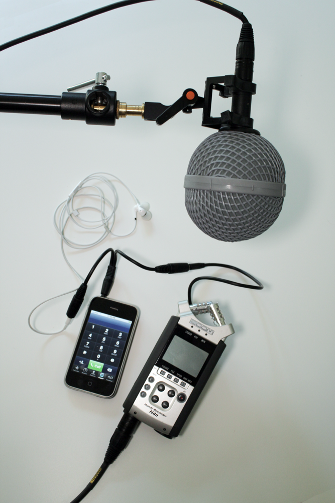 How to record iphone conversations using Zoom H4N - Dan McComb