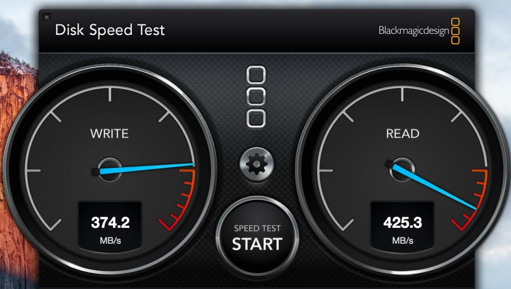 Samsung T1 speed test
