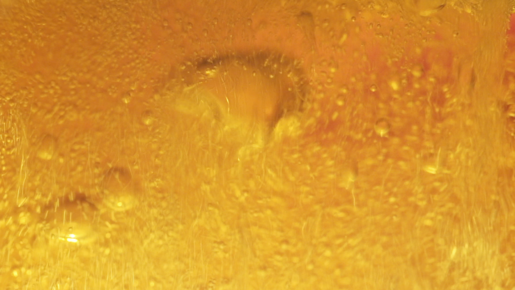 Beer shot in an aquarium