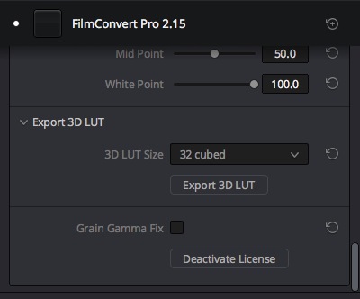 """Click """"Export 3d LUT"""""""
