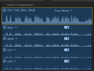 FCPX interpretation of polyphonic files