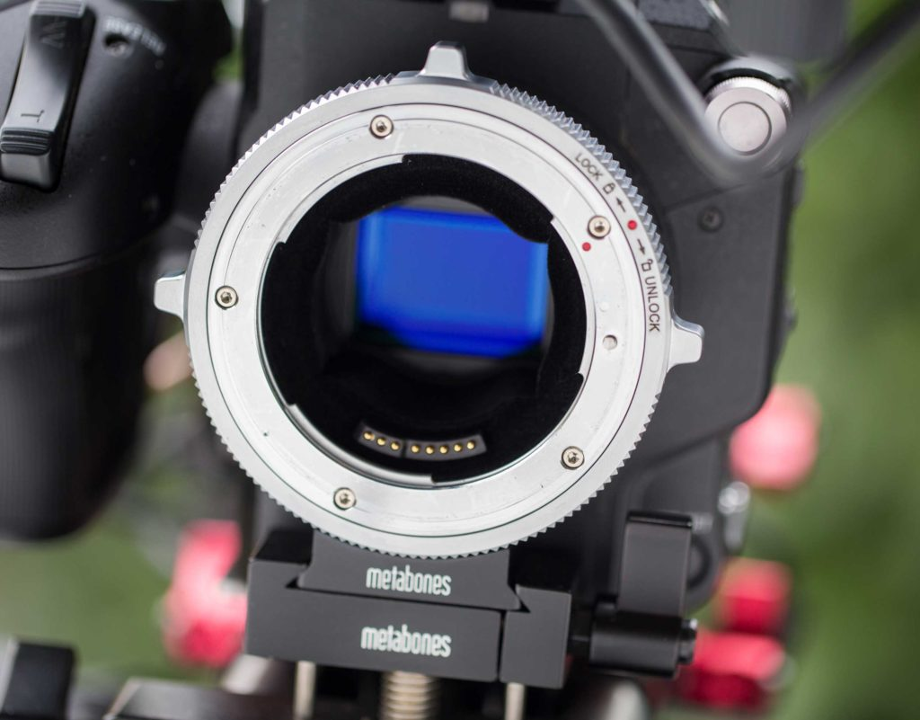Lenses are mounted by rotating the ring around the lens, without rotating the lens