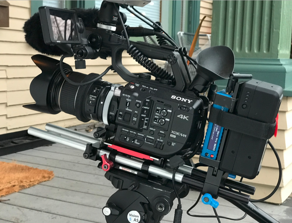Sony FS5 with V-mount power solution